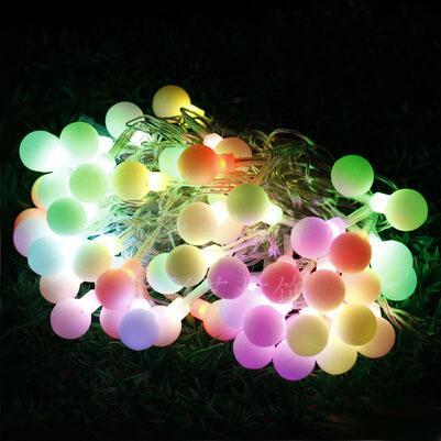 Colorido rodada luzes da corda lâmpada 110/220 V 56 luzes da corda led casamento twinkle Decoração + Frete grátis