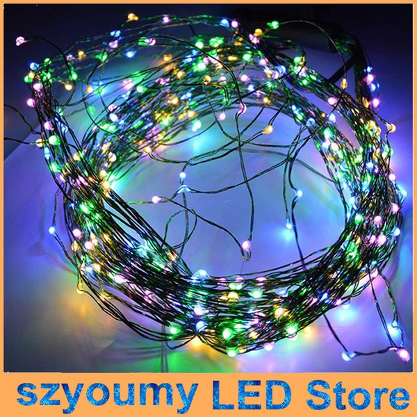 10m 100led Silver Copper Wire Led String Light Fairy Lights Starry ...