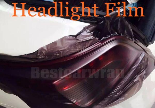 1 rollo Matte humo Faros delanteros de coche Tintura Faros Tinte película Luz negro tinte de lámpara Tamaño de vinilo 0.3x10m / Rollo