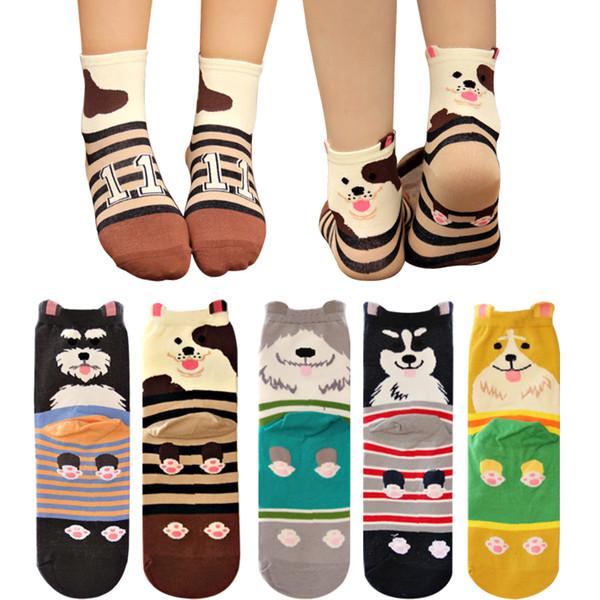 NUOVA Corea del Sud Autunno e inverno di alta qualità di cotone cane di classe cartone animato tridimensionale adulto calze amanti nel tubo calzini all'ingrosso
