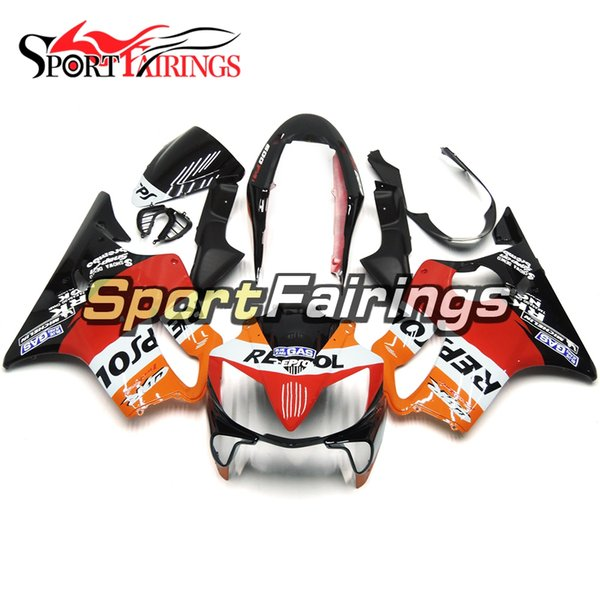Full Motorcycle Plastics ABS Injection Fairing Kits For Honda CBR600 F4i 2004-2007 Year 04 05 06 07 Fairings Repsol Black Red Orange Cowling
