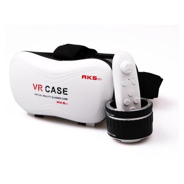 VR Vaka RK5th 5.0 Sürüm Sanal Gerçeklik Gözlükleri 3D Video Filmler Oyunları için 3.5-6 inç Akıllı Telefon
