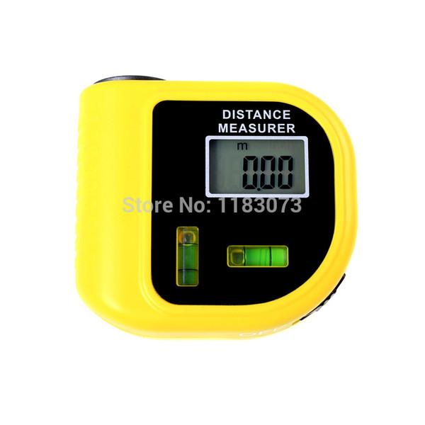 18M CP-3010 Nuovo mini misuratore di distanza ultrasonico a forma di tapeline con il telemetro dell'indicatore del puntatore laser della leva dell'acqua Trasporto libero