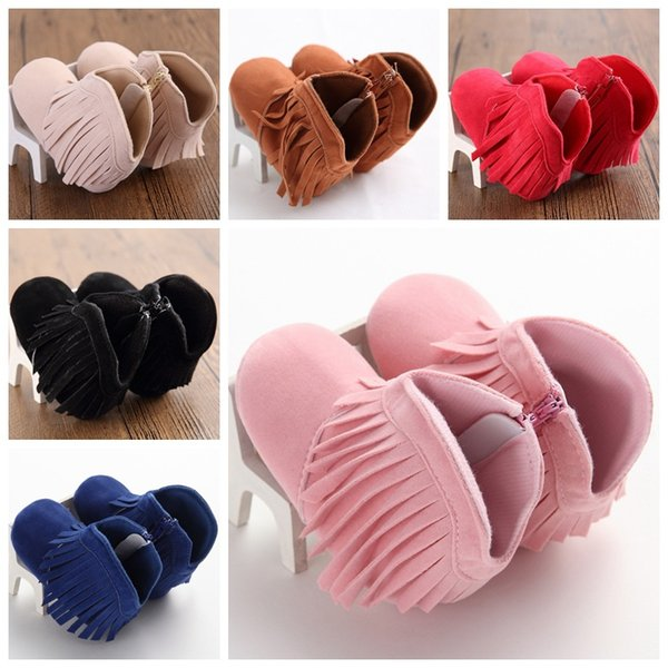 best selling christmas xmas baby moccasins boot infant velvet boots side zipper baby cotton moccasins boots soft bottom walking shoes boots 6colors