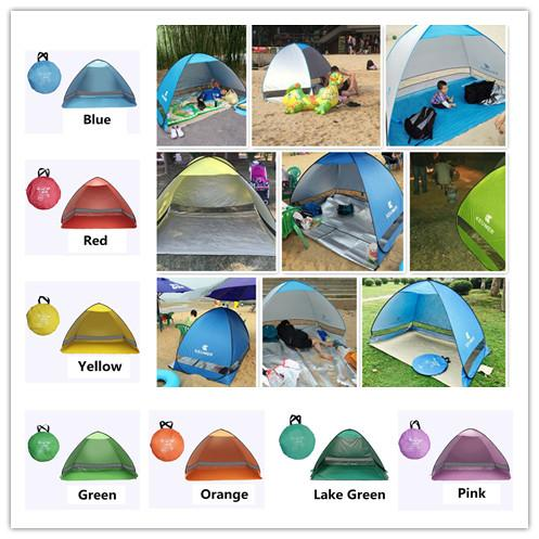 top popular SimpleTents Easy Carry Tents Outdoor Camping Accessories for 2-3 People UV Protection Tent for Beach Travel Lawn 20 PCS  Lot Colorful Tent 2021