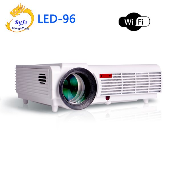 Wholesale- LED96 wifi led projector 3D android wifi hd BT96 proyector 1080p HDMI Video Multi screen home theater Home theater system