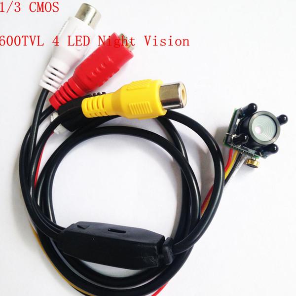 Mini Camera CCTV 600TVL 4 LED Night Vision IR CCTV Pinhole Lens Mini Camera CMOS HD Video Surveillance Security Camera 3.7mm Lens With Mic