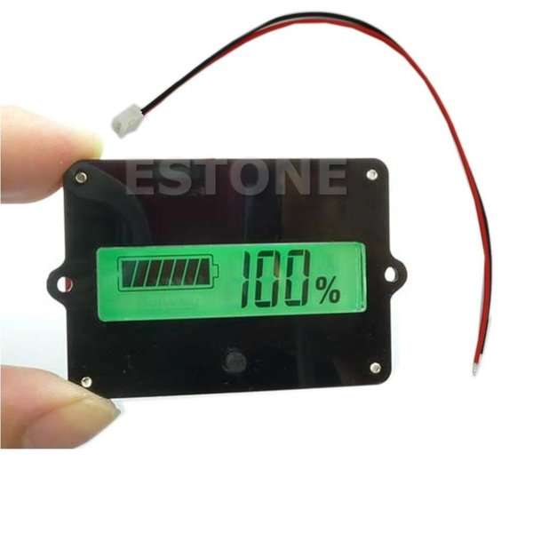 Consumer Electronics Shop - shipping 1PC Battery Capacity Tester Indicator For 12V Lead-acid Lithium LiPo LCD New