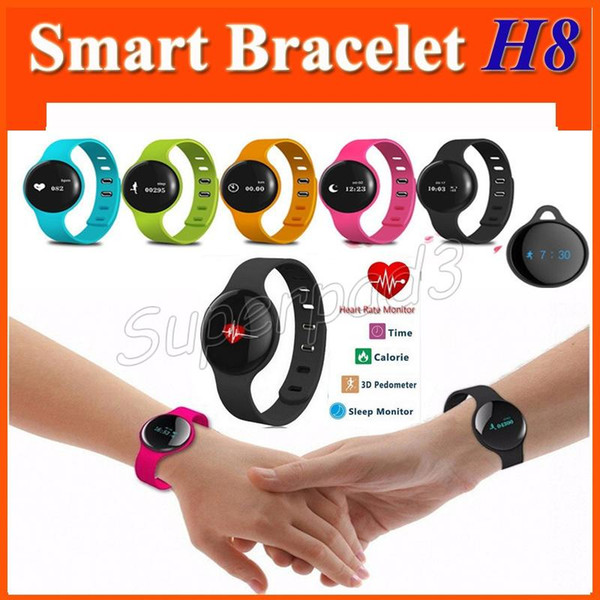Free Shipping Bluetooth Wearable Technology For iOS Android Smartphone Smart Bracelet H8 Healthy Bracelet Watch Fitness Tracker Wristbands
