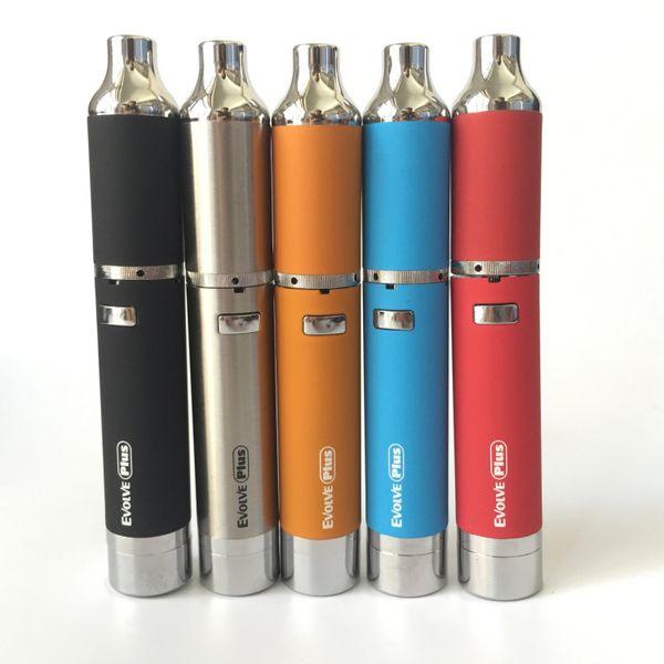 Yocan Evolve Plus Kit 1100mAh Best Portable Wax Pen Wax Vaporizer with Quartz Dual Coil E-cigarette Kits dry herb vape pen