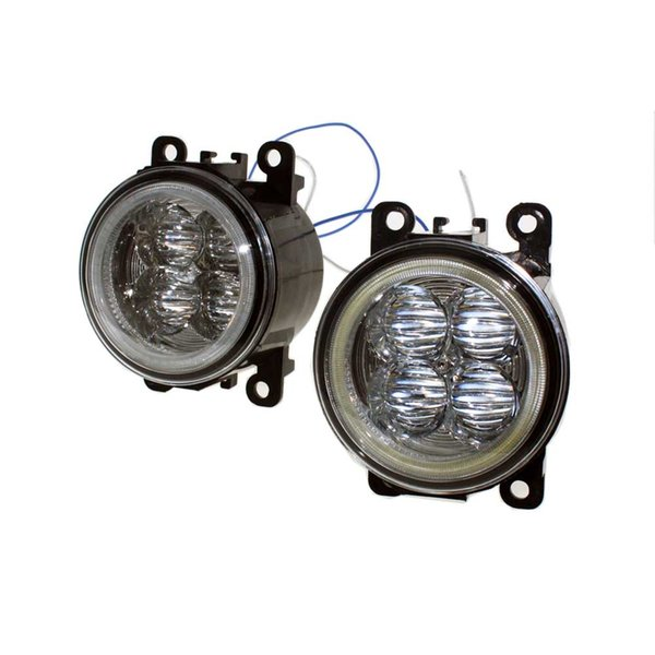 For MITSUBISHI L200 KB_T KA_T Pickup 05-15 Car Styling Bumper Angel Eyes LED Fog Lamps DRL Daytime Running Fog Lights OCB Lens car light