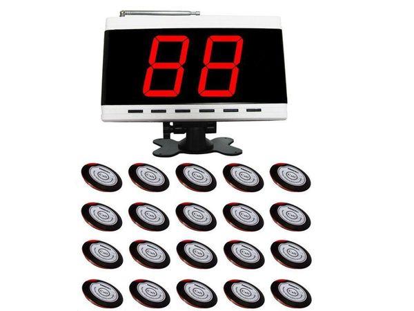 Servicio de camareros inalámbricos SINGCALL Sistemas de llamada 20 botones de mesa y 1 receptor