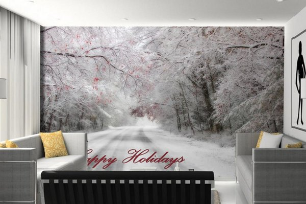 Beautiful Winter Nature Wallpaper Walls Snow Landscape Wall Papers Home  Decor Living Room Wall Painting Design Images On Wallpaper Images To  Wallpaper ...