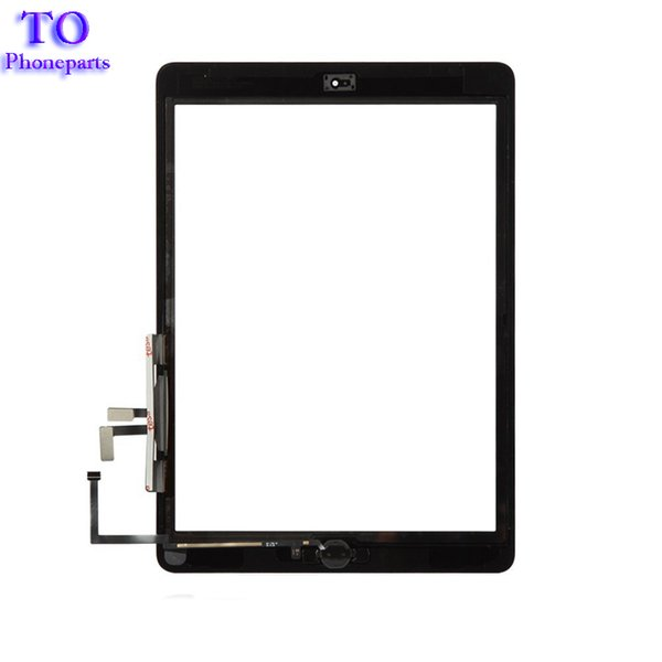 50PCS For iPad 5th ipad Air A1822 A1823 Touch Screen Digitizer Front Glass Lens Replacement DHL Free