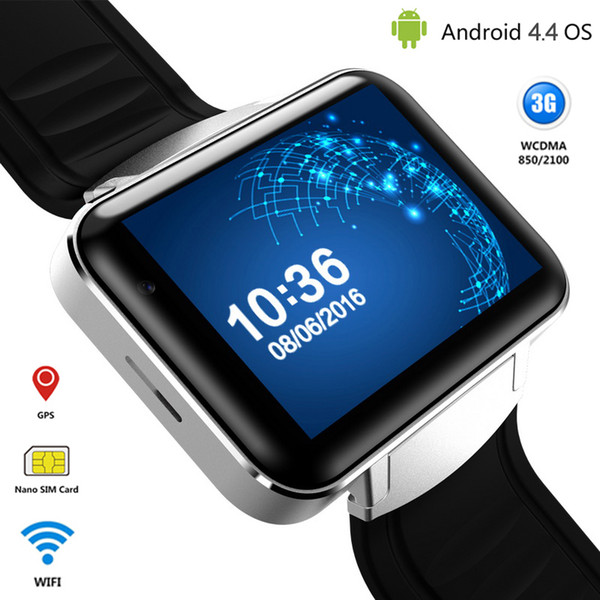 Android Smart Watch Phone MTK6572 Quad Core DM98 Bluetooth Smartwatch 3G SIM Wifi GPS Sports Watches WCDMA Smartphone