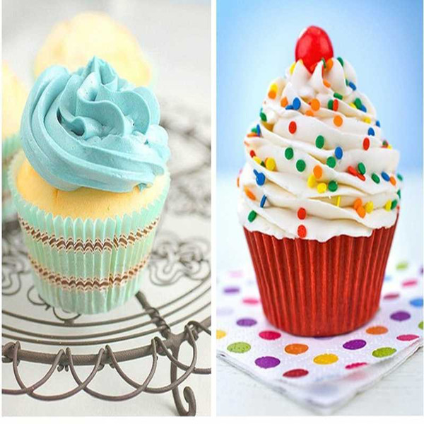 Hot Selling Mix Colorful Paper Cake Cupcake Liner Baking Muffin Box Cup Case Party Tray Cake Mold Decorating Tools