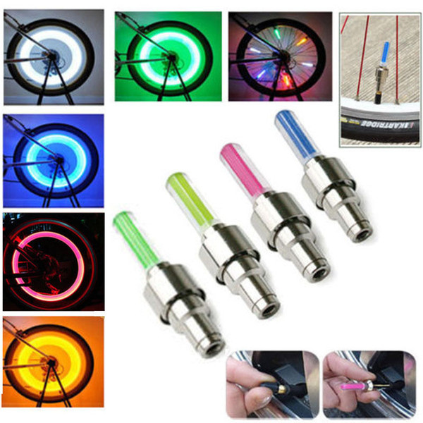 top popular LED Flash Tyre Wheel Valve Cap Light for Car Bike Motorbicycle LED Wheel Light 2021