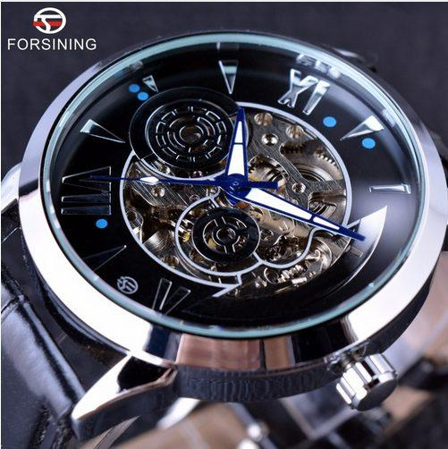 Forsining 2019 Time Space Fashion Series Skeleton Mens Watches Top Brand Luxury Clock Automatic Male Wrist Watch Automatic Watch
