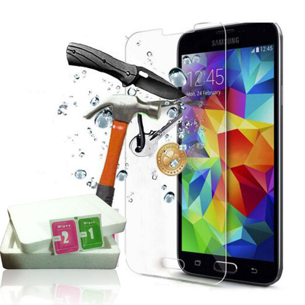9H 2.5D For Samsung Galaxy A3 A5 A7 Samsung S7 S6 S5 S4 Tempered Glass Screen Protector For iphone 6S Iphone 6 5 Explosion Proof Film