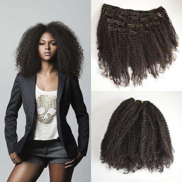 100% Remy Clip Natural en Extensiones de Cabello Humano Peruvian Virgin  Hair Clip en Extensiones a97150c24e8a