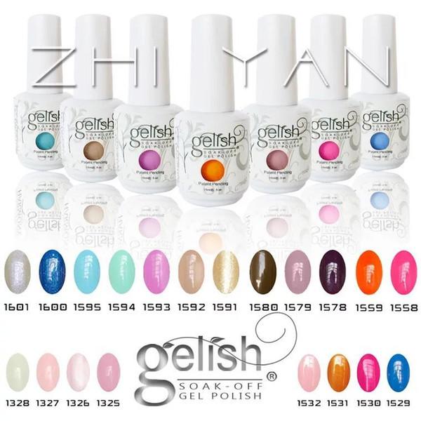 best selling 2017 Top quality Harmony Gelish nail polish 441 Colors 15ml Gel Polish UV Color Gel Soak Off base Gel top it off matte foundation gelpolish