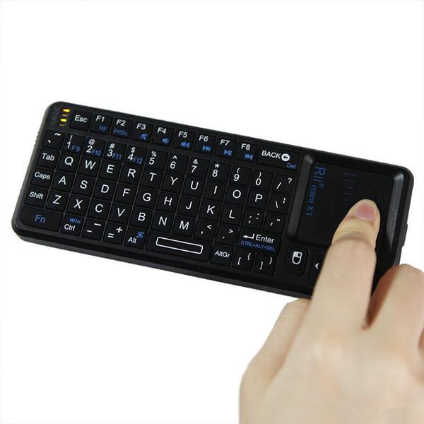 Rii mini X1 El 2.4G Kablosuz Klavye Touchpad Fare PC Dizüstü Akıllı TV Siyah C1783 Için