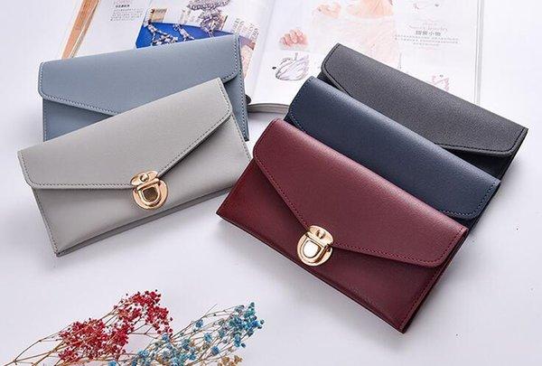 credit card holder zipper cheap luxury wallet women pu leather wallets lady ladies woman long purse cell phone pocket