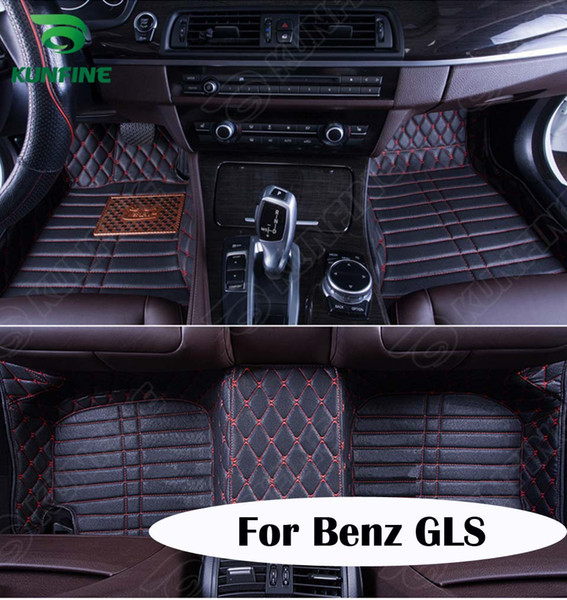 Qualidade superior 3D tapete do assoalho do carro para Benz GLS pé tapete almofada do pé do carro 4 cores mão Esquerda motorista transporte da gota