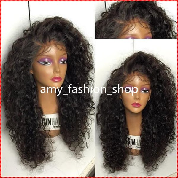 Full Lace Human Hair Wigs For Black Women 180% Density Brazilian fluffy Curly Lace Front Human Hair Wig Glueless Full Lace Wig