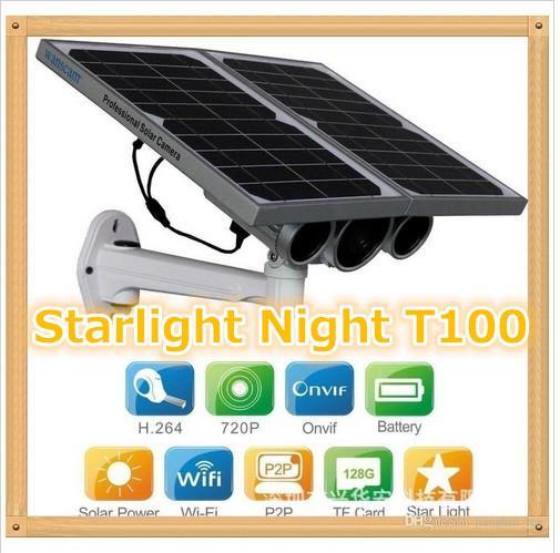 HW0029-3 Gen Solar Power Starlight IP Camera Onvif Wireless WiFi 720P HD 8mm Lens Night Vision 100m Network Waterproof Remote View