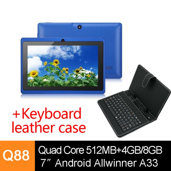 7 inch Q88 Pro Quad Core Dual Cameras A33 Android 4.4 Tablet PC 512MB 4G/8G Bluetooth Wifi Capacitive Screen