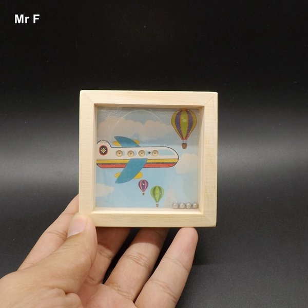 Funny Plane Wooden Round Balls Balance Maze Toys Best Gifts For Kids Educational Game Teaching Toy Fun Gift Game Kid