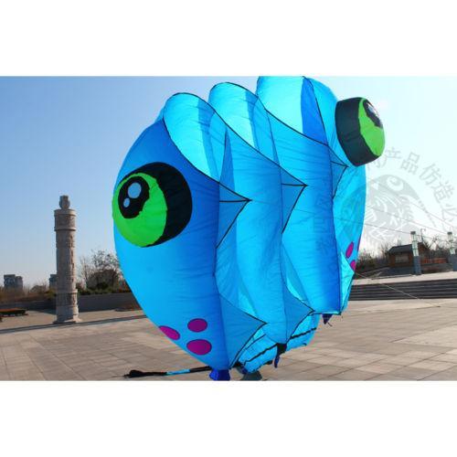 3D 8 Sqm 1 Line color Stunt Parafoil Smurfs POWER Sport Kite outdoor toy