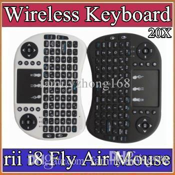 10X 2016 Wireless Keyboard rii i8 keyboards Fly Air Mouse Multi-Media Remote Control Touchpad Handheld for TV BOX Android Mini PC B-FS