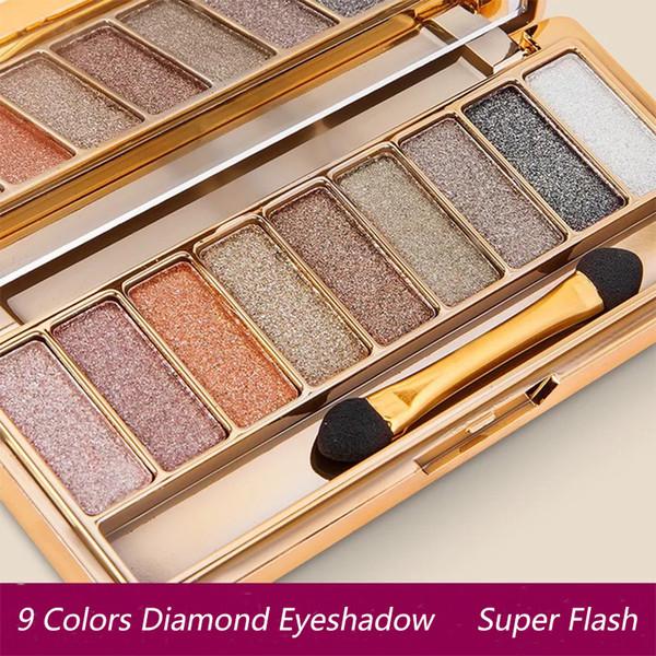 Professionale Eye Shadow Maquillage 9 colori Diamond Bright Makeup Eyeshadow Smoky Palette Make Up Set