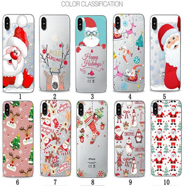Transparent Clear Soft TPU Case Christmas Dream Catcher 3D Cartoon Cases Painting Back Cover For iPhone X 8 7 plus 6 6s plus 5s 5c 4s