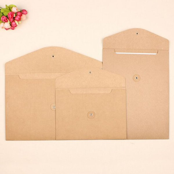 Blank A4 Thick Kraft Paper Envelope Vertical Documents Bags Horizontal File Envelope Gift Packaging Bags ZA5133