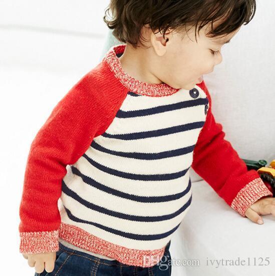 BST 2017 invierno nuevo estilo de la moda del euro niño niña niños suéter botones suéter de dibujos animados de impresión niña otoño invierno cálido suéter