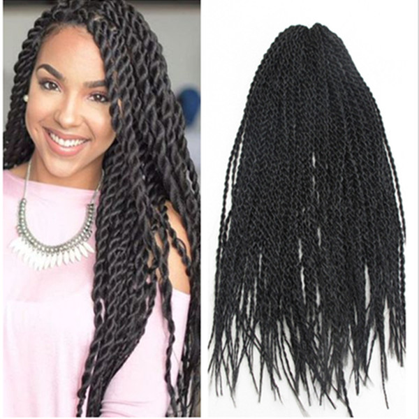 Synthetic Twist Braiding Hair Havana Mambo Twist Crochet Single