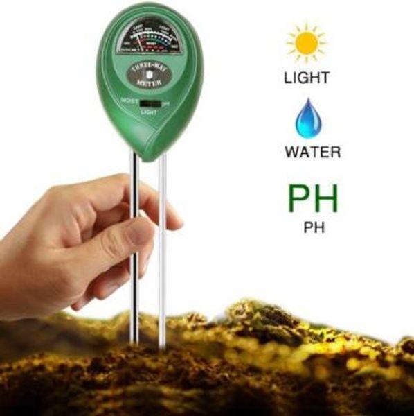 3 en 1 medidor de pH digital plantas flor suelo agua luz probador sensor monitor para el acuario interior jardín medidor de pH cca6871 50 unids