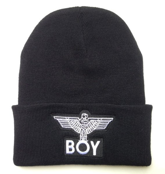 2016 Hot Selling BOY London eagle man Beanies,men/women knitted caps hip hop brands man street hat 1pcs freeshipping Hats&Caps Supplier!!!