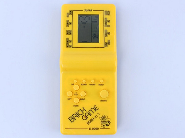 best selling Hot selling childhood fun Brick Game Handheld Game Machine Kids Game Machine random colour