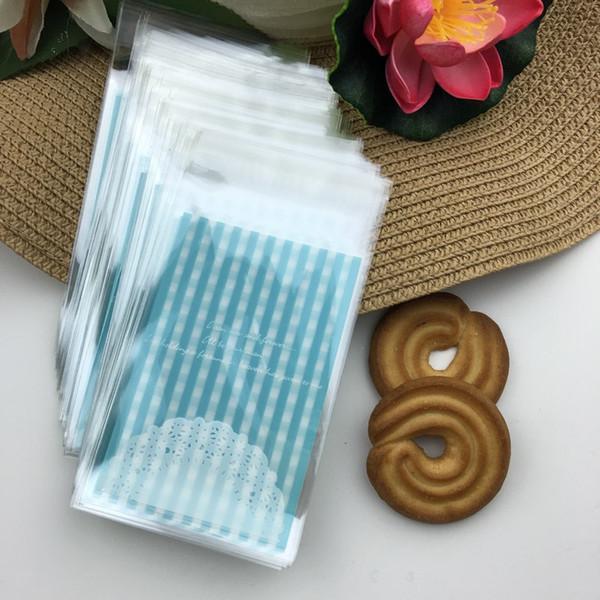 Gros-100 pcs / lot 7 * 10 cm en plastique emballage sacs à provisions sacs à biscuits sacs de gâteau de mariage bonbons pour emballage de boulangerie