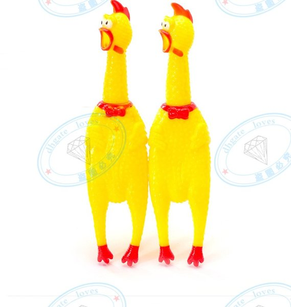 200pcs / lot forma sveglia del pollo di colore giallo suono del giocattolo del gatto del cane non-gomma chewing i giocattoli di masticazione di trasporto di goccia Tempo di consegna veloce