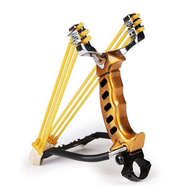 Lumiparty Hunting Slingshot Outdoor Hunt Tool Accessories Powerful Aluminium Alloy Slingshot Crossbow Hunting Sling Shot Bow
