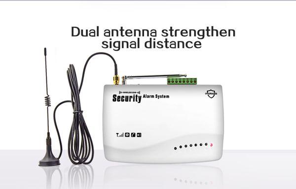 DIY host best wireless house alarm system датчик двери оконный детектор человека intruder auto dial SMS driveway alarm System control kit
