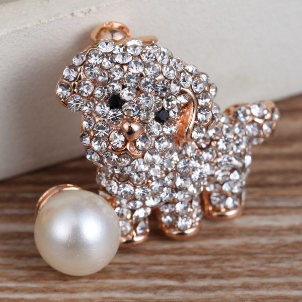 best service 77822 51222 Acquista Naughty Dog Animal Broche Donne Popolari Grande Imitazione Perla  Spilla Abbigliamento Pin Ragazze Fashion Jewelry Accessorio Dressing XZ0228  ...