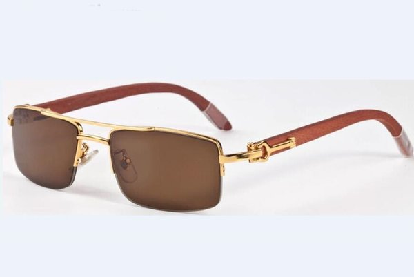 Luxury polarized sunglasses for men brand prescription sunglasses UV400 outdoor lady eyewear brand designer retro wood sun glasses