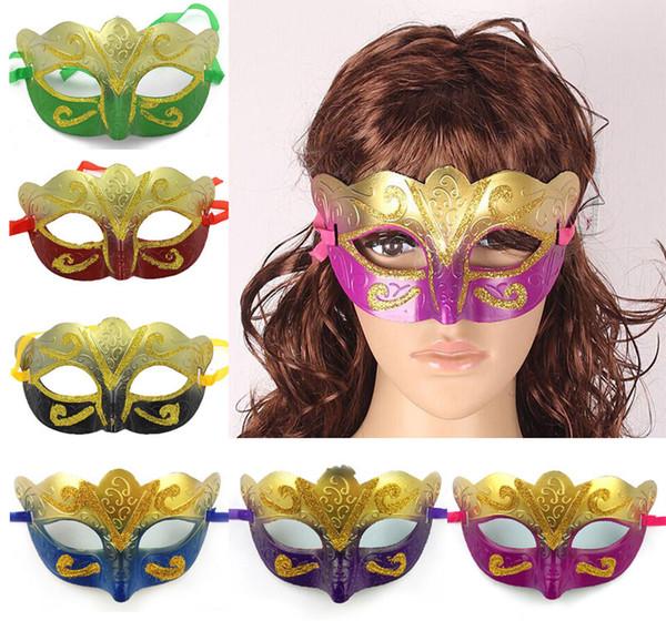 Hochzeit Partei Farbige Zeichnung Half Face Masken Venezianischen Maskerade Halloween Maske Frauen Sexy Karneval Tanz Maske Cosplay Phantasie Mix Farbe