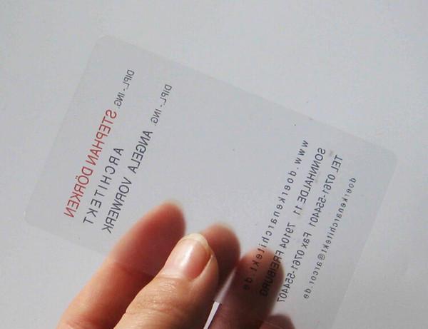 Großhandel China Hersteller Klar Bereifte Visitenkarten Transparente Plastikvisitenkarten Von Csprinting 70 36 Auf De Dhgate Com Dhgate